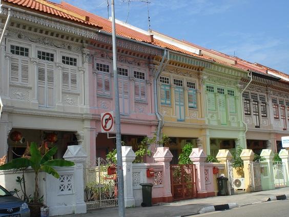 Singapour - maisons peranakan