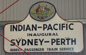 Le train Sydney Perth